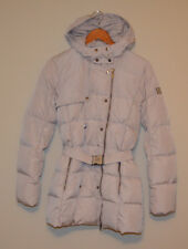 ADD DOWN ITALY Quilted Long Puffer Down Jacket Cream Ivory Women's US 6 IT 44