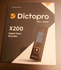 Dictopro X200 Digital Voice Recorder(NIB)