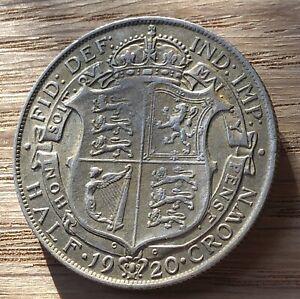 1920 George V Silver Half Crown In Higher Grade