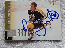Boston Bruins Dean Chynoweth Signed 96/97 Upper Deck Auto Card