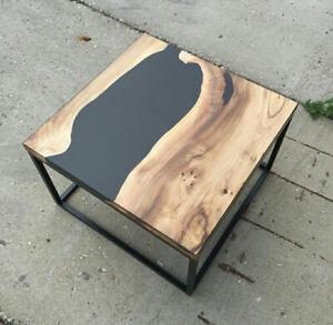 "18"" Epoxy Corner Table Top Resin Furniture Home Garden Decor"