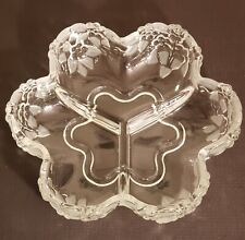 MIKASA Carmen Frosted Crystal 3 Part Relish Dish