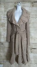 NWOT GRIFFLIN PARIS FORLA BOUTIQUE MAXI LONG beige Cardigan SWEATER COAT M