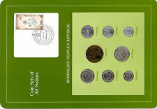 Coin Sets of All Nations Mongolia w/c 1971-1981 UNC 2,5,50 Mongo 1980 Tugrik 71