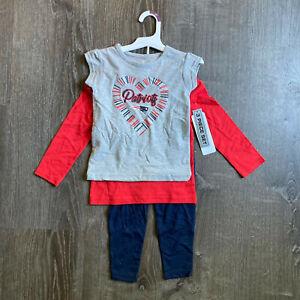 New England Patriots Girls' T-Shirt &Long Sleeve Shirt & Pants NFL Set 2T or 3T