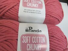 PANDA SOFT COTTON CHUNKY 100GRS 5 BALLS CANDY PINK,NO 5,