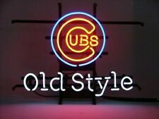 "Chicago Cubs Old Style Beer Neon Lamp Sign 20""x16"" Bar Light Windows Glass Decor"