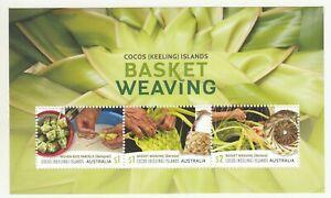 2018 Cocos Isl. Basket Weaving $4.00  miniature sheet. MUH. Going cheap