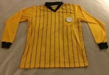 Men's Yellow High FiveSoccer Referee Jersey LARGE Long Sleeve beb