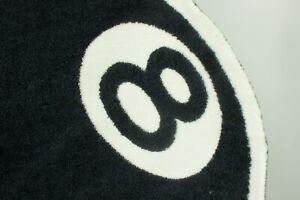 NWT Rare Stussy 8 Ball Knit Rug Black/White