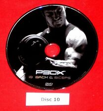GOOD Cond. Replacement Disc DVD P90X ONLY Disc # 10 Back and Biceps NOT SET !