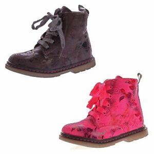 Kinder Boots leicht gefüttert Mädchen Knöchel Schuhe Stiefel Blumen Muster 20-31