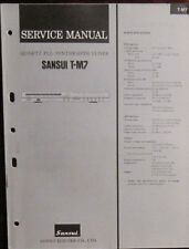Sansui T-M7 tuner service repair workshop manual (original copy)