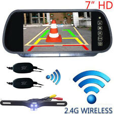 "WIRELESS CAR REAR VIEW KIT 7"" LCD MIRROR MONITOR + IR BACK UP CAMERA"