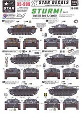 Star Decals 1/35 STURM! Part 1 STURMGESCHUTZ III  Ausf A, C, and D