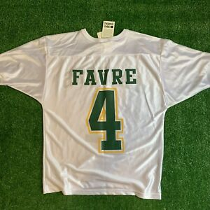 Vintage 90s Green Bay Packers Jersey Brett Favre Chalk Line New With Tags Sz L