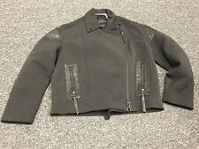 ALL SAINTS NWT Black Cotton Blend Matton Biker Leather Accent Jacket 4