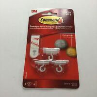 3M Command White Plastic Damage Free Mini Adhesive Hanging Hooks Ceiling Hooks