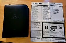 2003 ACURA TL COMPLETE WALLET OWNERS MANUALS + WINDOW STICKER --- CHEAP!