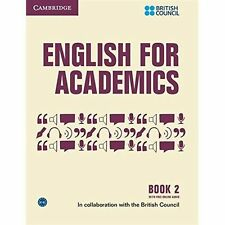 Cambridge ENGLISH FOR ACADEMICS 2 Book with Online Audio by British Council @NEW