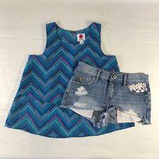 bb702c3b4e4 Abercrombie Kids Denim Shorts   Total Girl Sleeveless Layers Top Size 14