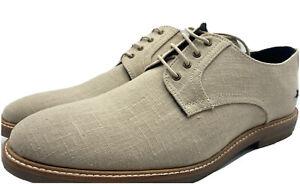 Tommy Bahama Baird Beige Linen Shoes Men's Size 13 New!