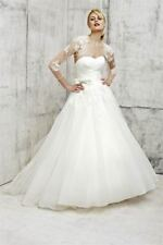WEDDING DRESS BEN ROBERTS SAMPLE TULLE BALLGOWN, SHRUG AND BELT IVORY SIZE 12