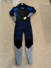 RIP CURL Full Wetsuit Youth Sz 14 Dawn Patrol 3/2 Navy and light Blue NWT
