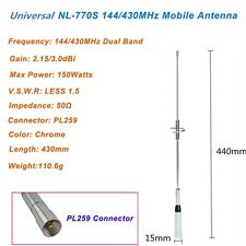 1 Pcs NL-770S  Dual Band UHF/VHF 2m 144/ 430MHz Radio Mobile - Station Antenna