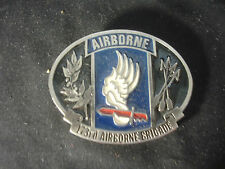 "Airborne 173rd Brigade Military Belt Buckle Made In The Usa 3"" x 2 1/2"""