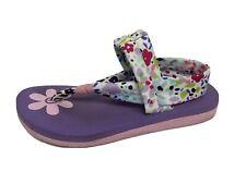 Skechers youth girls sandals flip flop slip on textile upper size US 2