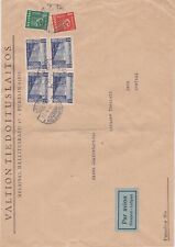 Finland-1942 W W 2 5.50 M on Helsinki airmail letter cover to Bern, Switzerland