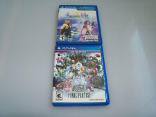 Ps Vita Final Fantasy X and World of Final Fantasy games