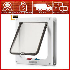New listing 4-Way Locking Cat Flap Door Home Dog Entry Pet Exit Enter Tool