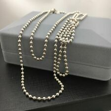 Tiffany & Co Men's Silver Bead Necklace Dog Chain 34 Inches!