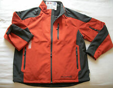 MENS XL ORANGE / GRAY SOFTSHELL JACKET WIND & WATER RESISTANT by FREE COUNTRY