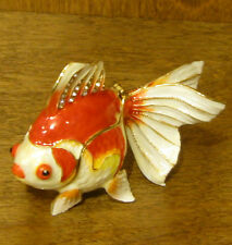 Terra Cottage Jeweled Trinket Box #TJ1479 GOLDFISH, NIB From Retail Store, 2.5""