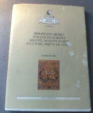 SEMENZATO IMPORTANTI MOBILI ITALIANI ED EUROPEI FEBBRAIO 1989 SEZIONE ANTIQUARIO