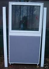 Raumteiler  -  Paravent  -  Büro-Trennwand  -  mit Sichtfenster  -  80 x 160 cm