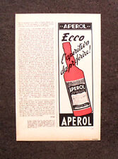 [GCG] M764 - Advertising Pubblicità - 1962 - APEROL BARBIERI