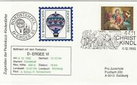 Austria 1993 Christmas Slogan Balloon Post Birth of Christ Stamps Cover Ref28000