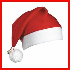 12 CHRISTMAS SANTA HATS WITH BELL FATHER CHRISTMAS COSTUME PARTY NOVELTY