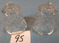 Votive Cups Set of 2 Homco Home Interior Crystal Clear Glass Pineapple Design