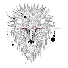 Geometrical Lion Mandala Design Sticker Decor Car, Fridge, Laptop Wall Art Decal