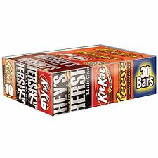 Hersheys Chocolate Full Size Variety Pack 30 Count Pack Store Candy Wholesale