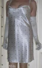 Beautiful light cream floral print mini full slip~chemise~nightie~gown size 10