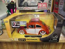 Jada 1/24 old skool 1959 volkswagen beetle orange/ white NIB