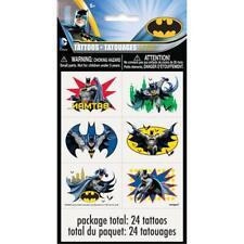 Batman Color Tattoo Sheets, 4ct