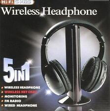 TechByte Wireless Headphone - Cordless Headphone with FM Radio