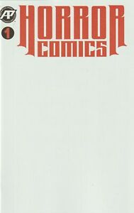 HORROR COMICS blank sketchbook WHITE cover version NM